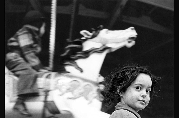 Gypsy Girl at the Carousel, Coney Island, 1949