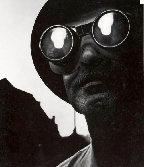 "W. Eugene Smith's ""Steelworker with Goggles"", Pittsburgh, 1955,  printed by James Karales"