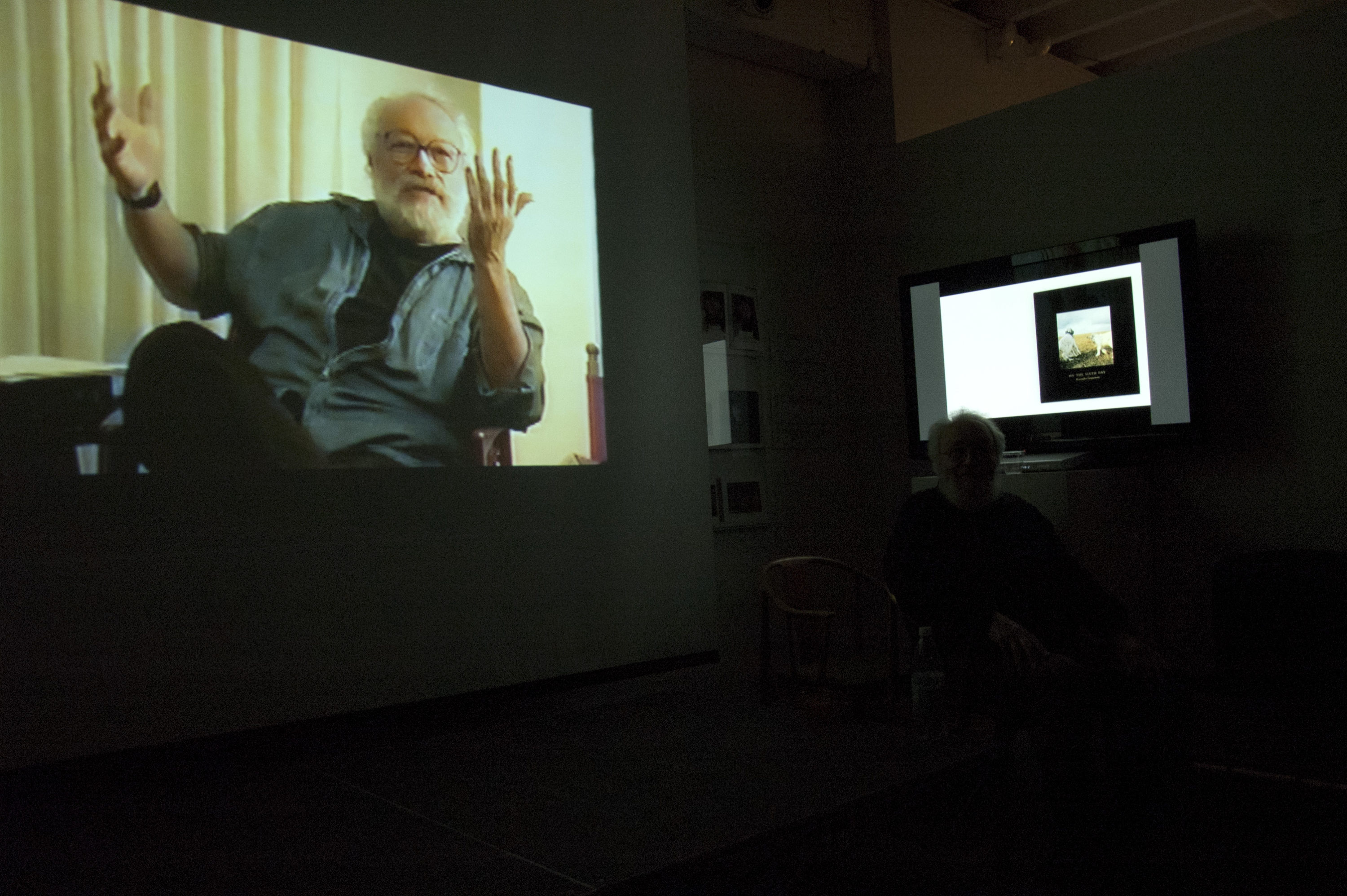 The evening began with a five minute video from my teaching tapes