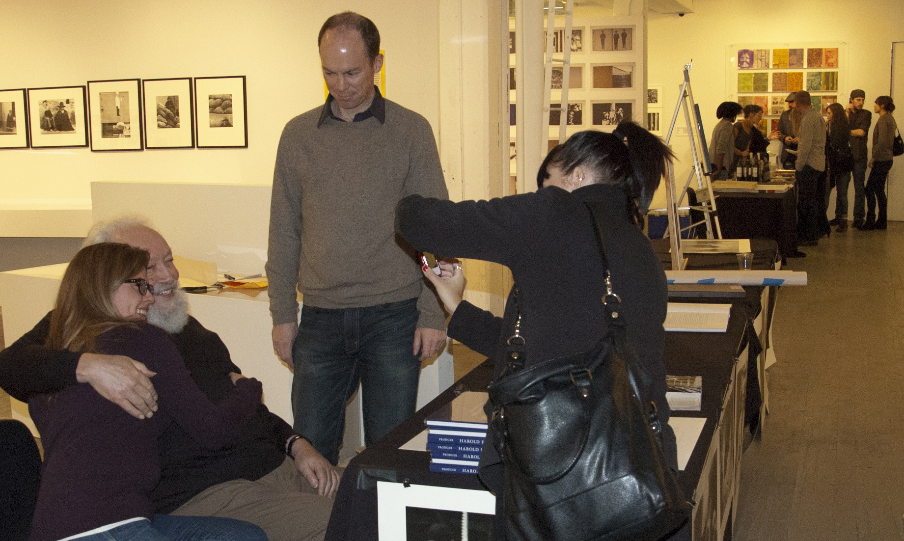 Good friend and web designer David Brabyn looks on while I give his wife Katherine a hug!