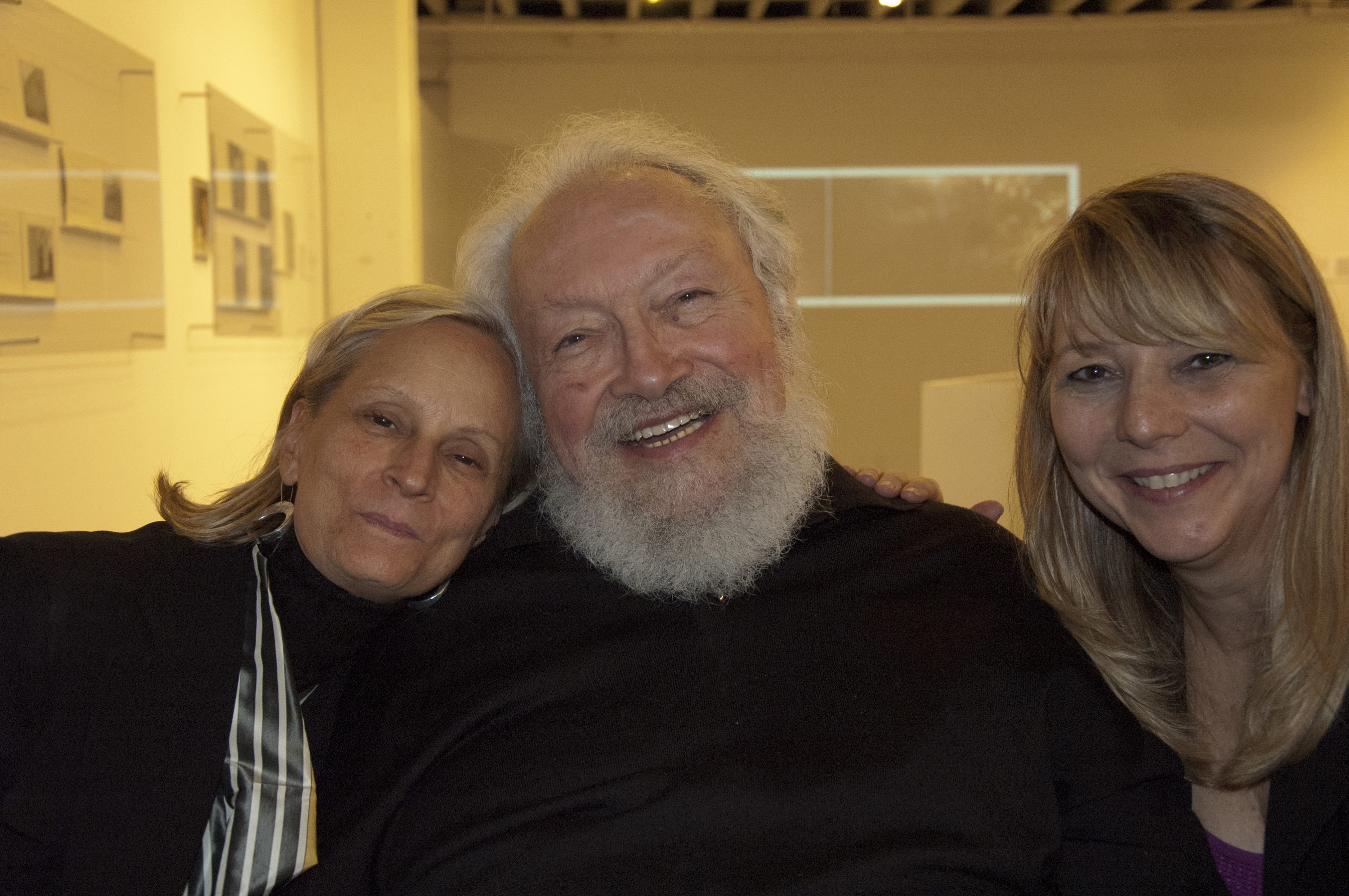 Judith, Cherie and I relax at the end of a long and happy night!
