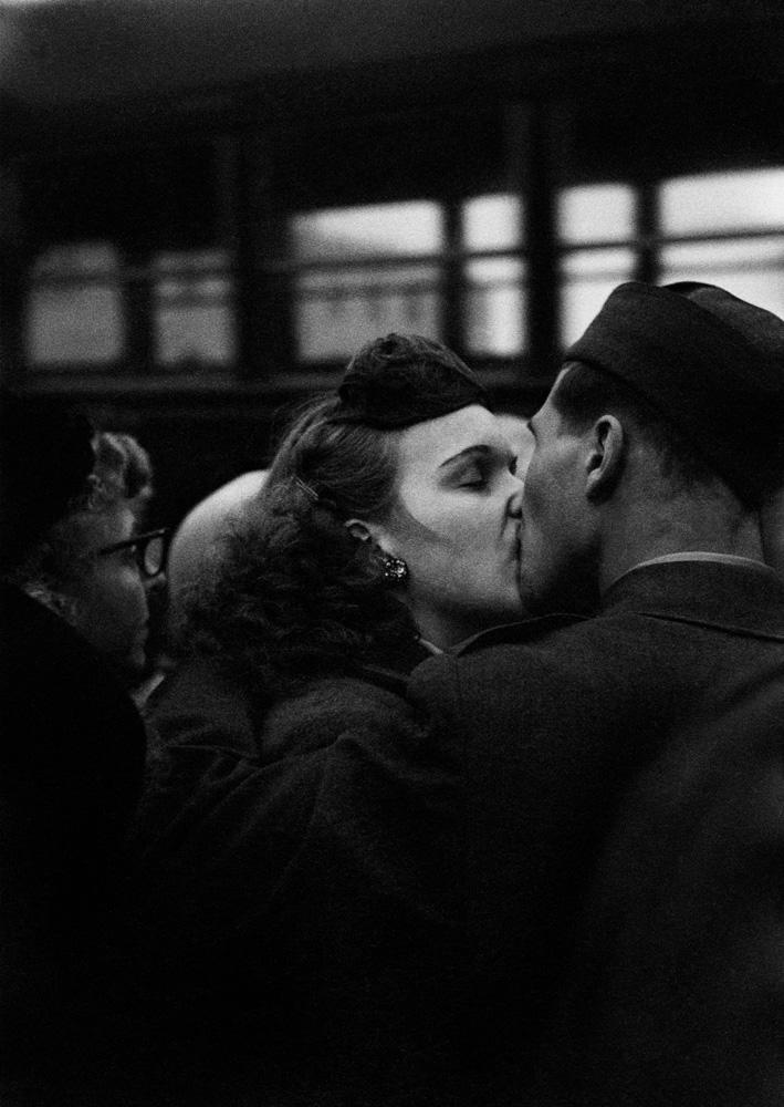 Bidding Farewell at Camp Kilmer, 1952