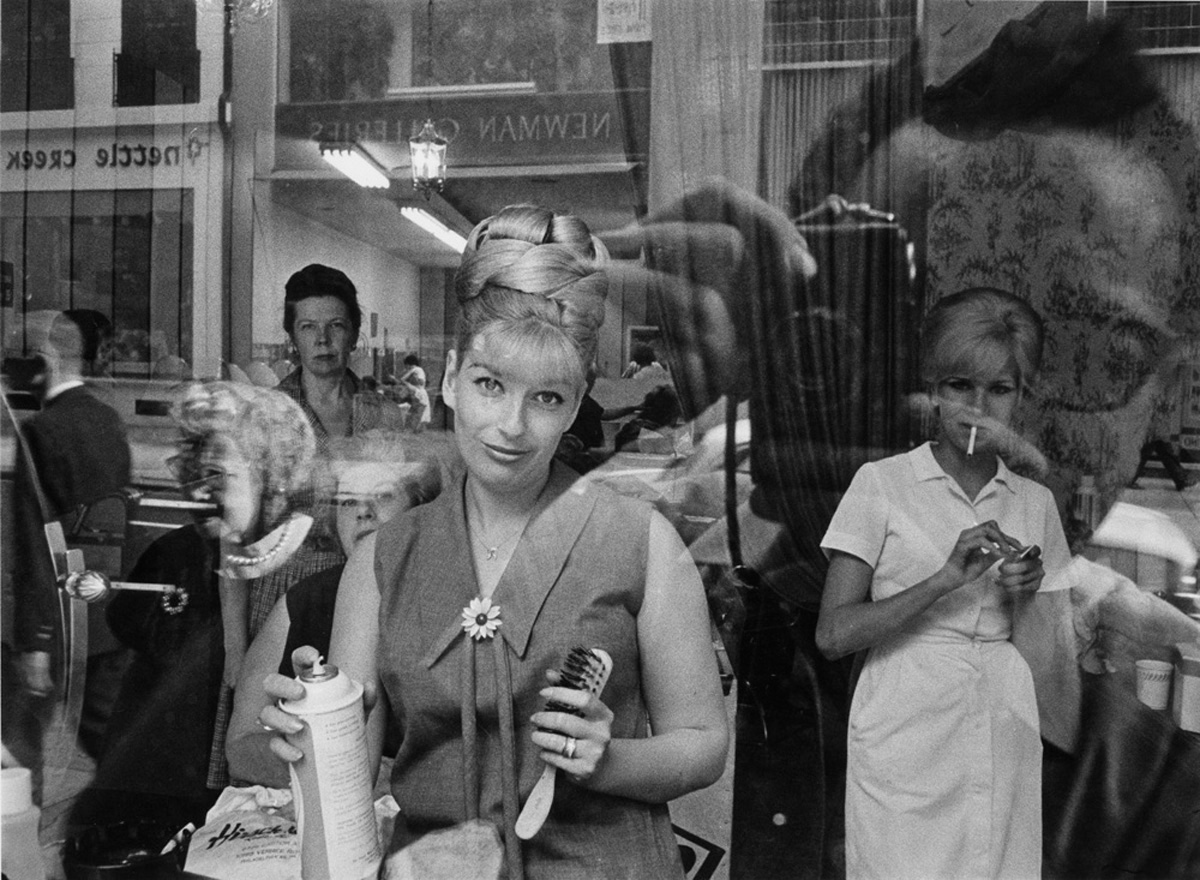 Beauty Parlor Window, Philadelphia, 1964 photographed with the Olympus Pen camera