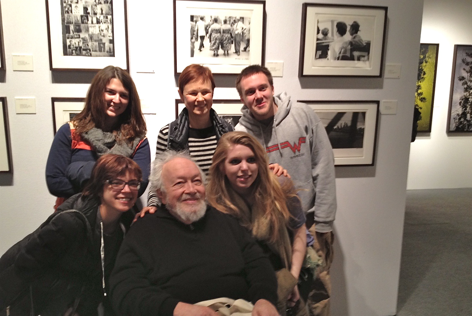 Here I am at AIPAD surrounded by students from The New Hampshire Institute of Art