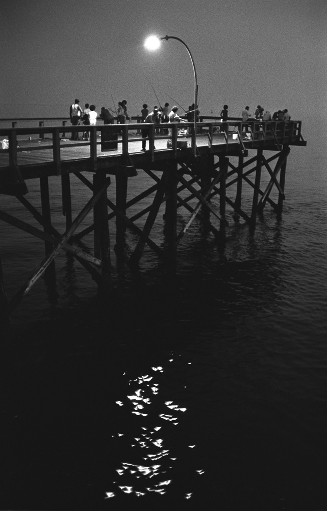 Pier with evening sparkles,  1950
