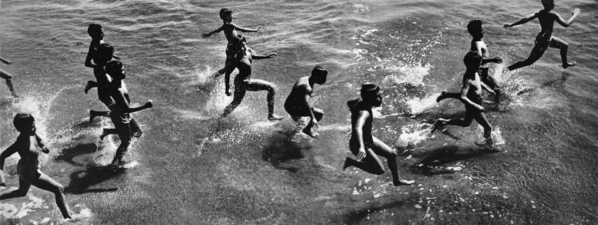 Boys Running into Surf, Coney Island, 1956