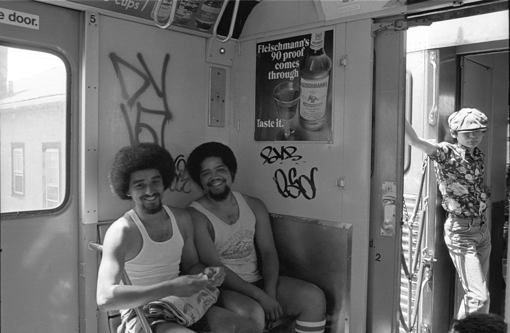 I don't know where these two guys were coming from,  but I know where they were headed on a sunny summer day.  All trains lead to Coney Island (1970).