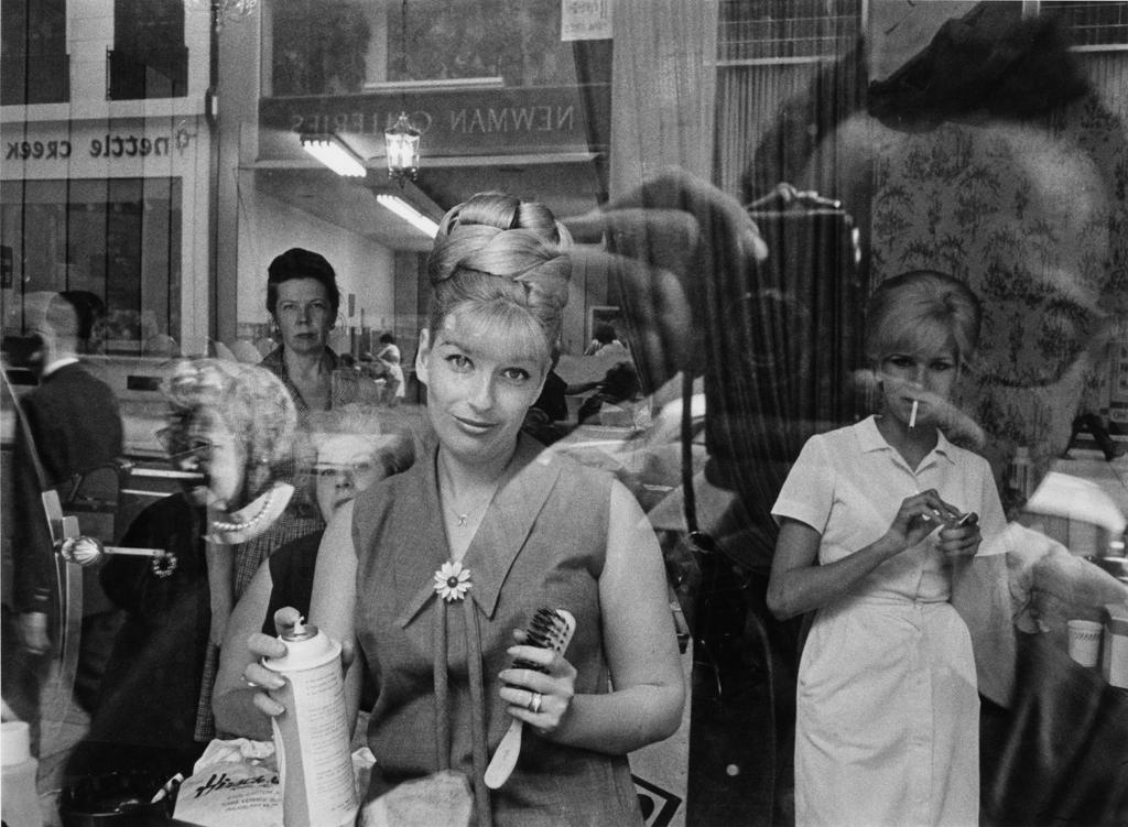 Beauty parlor window, 1965