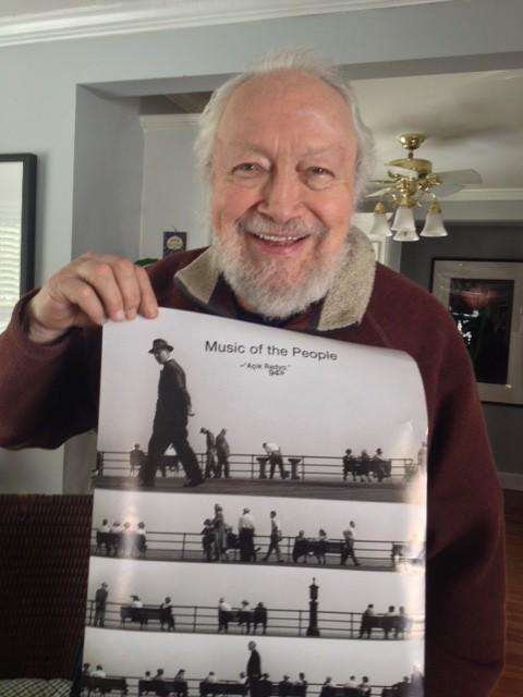 Harold's delighted with his Music of the People poster