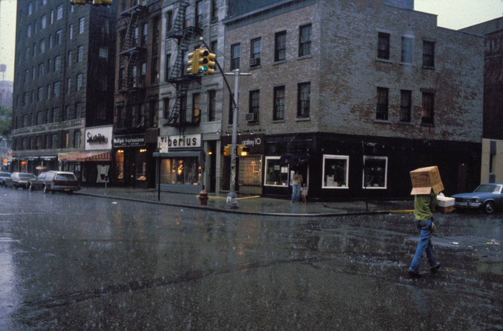 Box umbrella, New York, 1986