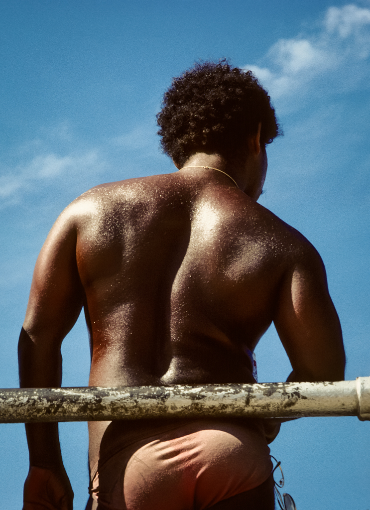 Bronze back, Coney Island, 1980
