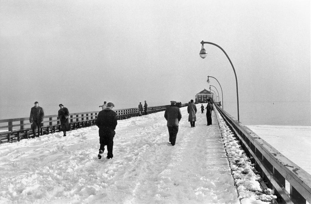 Steeplechase Pier in winter, 1955