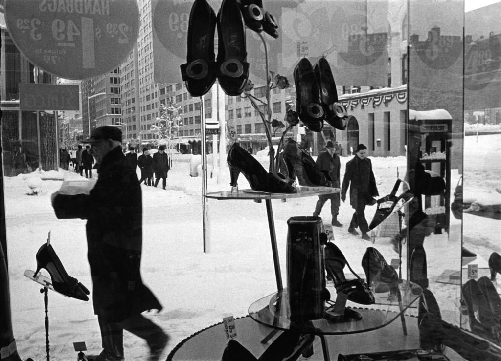 Shoe store window, 1966