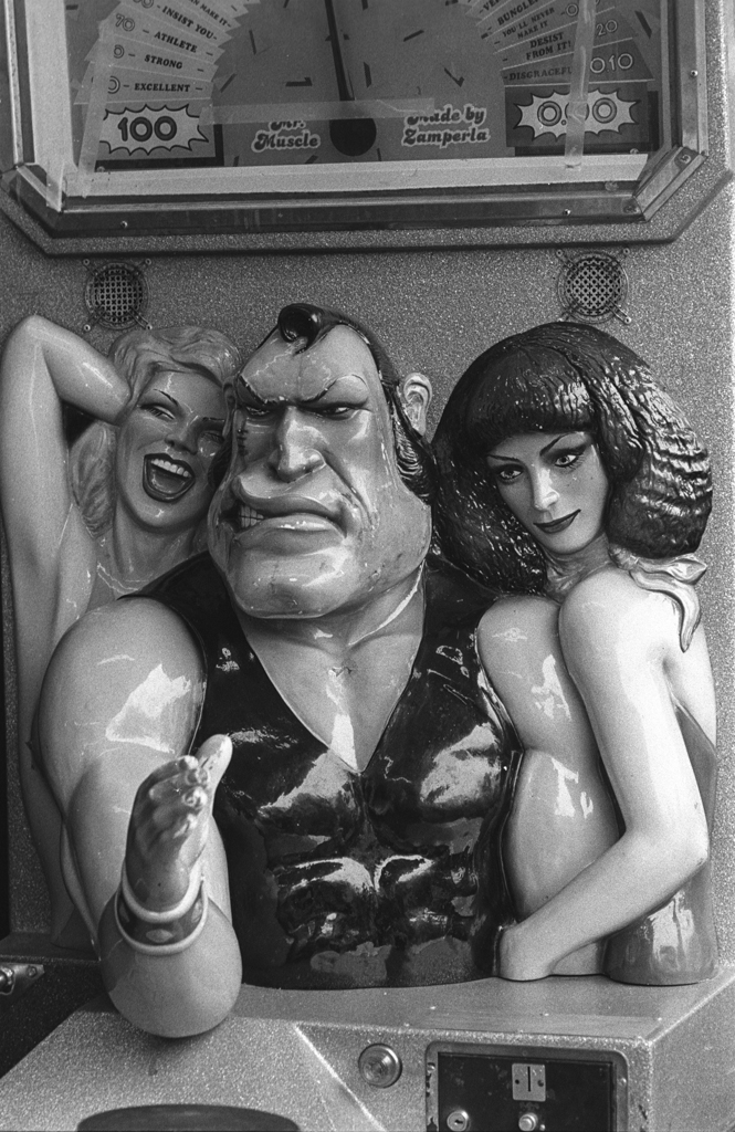 Arm wrestler, Coney Island, 1997