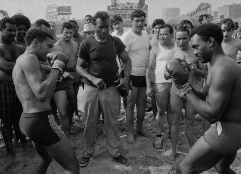 Beach boxers, Coney Island, 1969