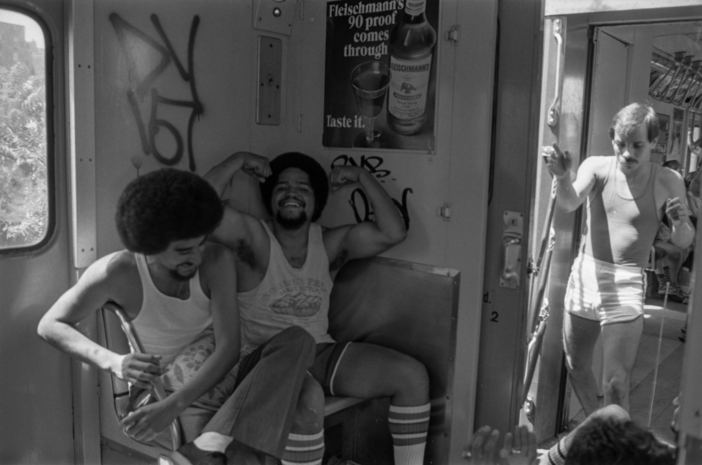 Flexing on the subway, 1977