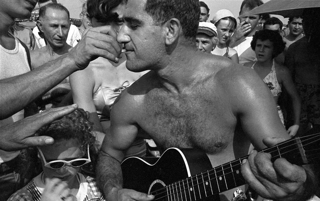 Coney Island beach concert,  1950