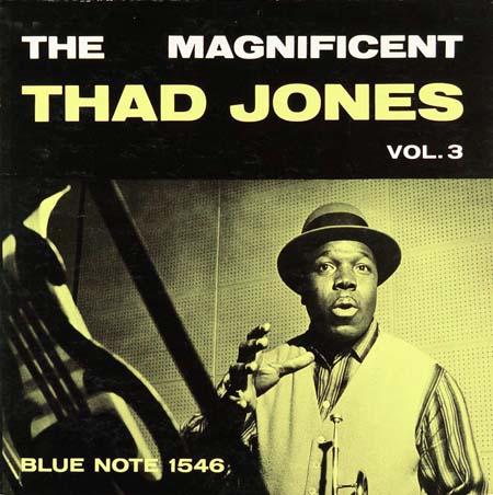 The Magnificent Thad Jones, photos © Francis Wolff,  design © Harold Feinstein, 1956