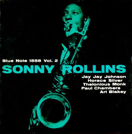 Sonny Rollins, Bluenote 1558, Vol. 2, photo ©Francis Wolff, design © Harold Feinstein, 1957