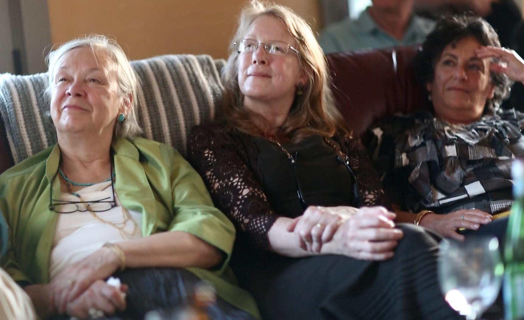 Beverly Simon,  Cindia Sanford, and Sandy Jacobs enjoy the video too!