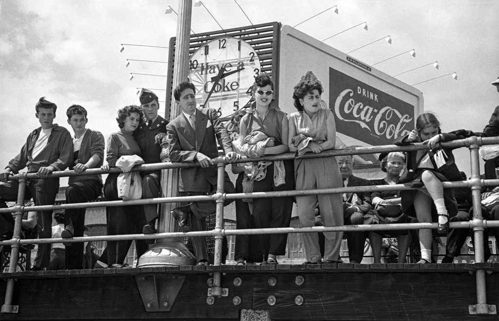 Coke sign boardwalk, 1949