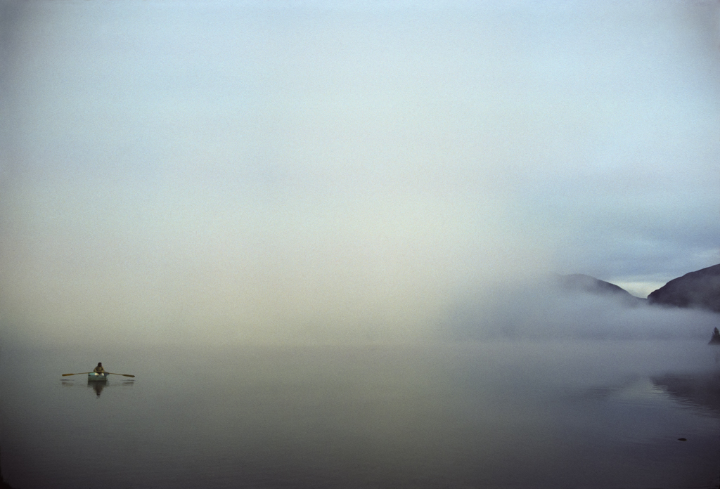 Lonely boat in mist, 1982