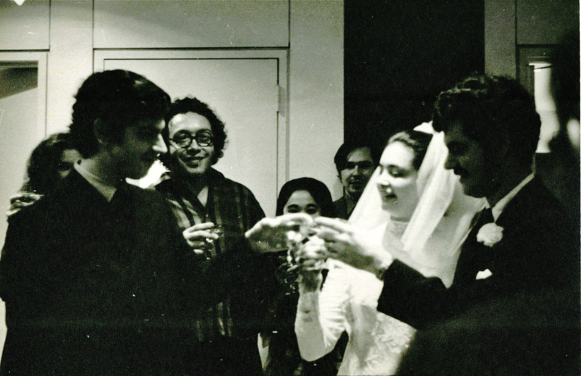 At the wedding of Judith and Oscar Marti  11/2/ 1969 at the United Nations Chapel. © Kurt Grishman.  Judith is a professor emeritus of anthropology at the University of California Northridge.