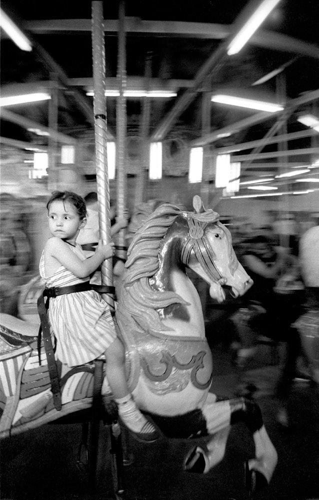 Girl on Merry-go-round, 1957. One of the other images that sold well!