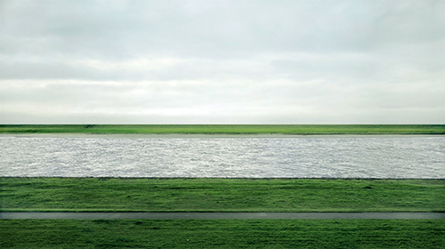 Rhein II, 1999, © Andreas Gursky, sold for 4.2$ million in 2011.
