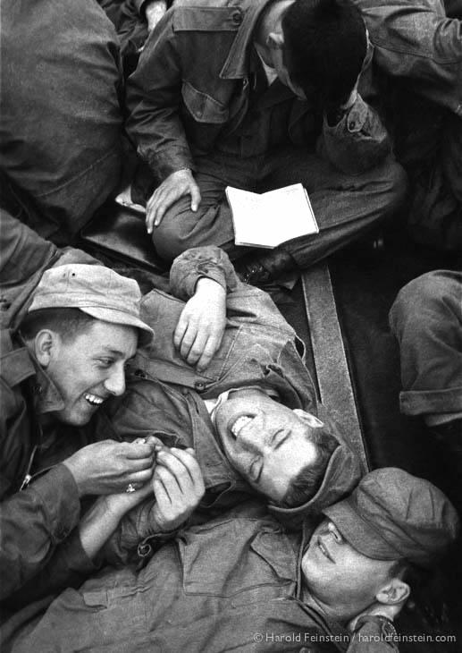 Draftees on ship to Korea, 1953.