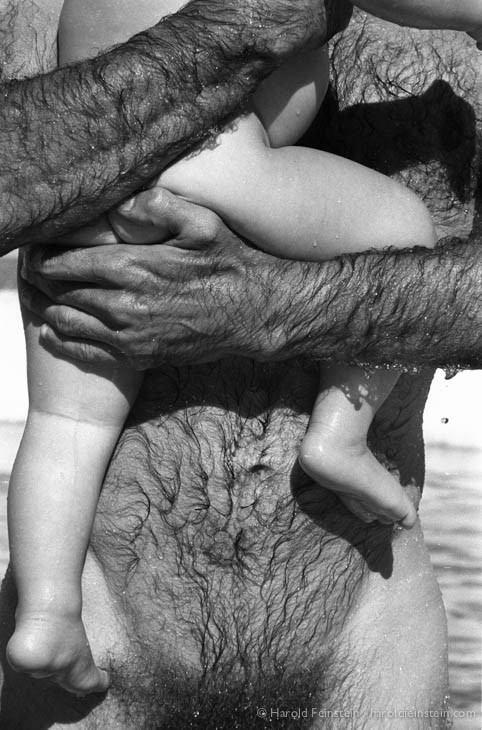 In dad's arms, Ibiza, 1987