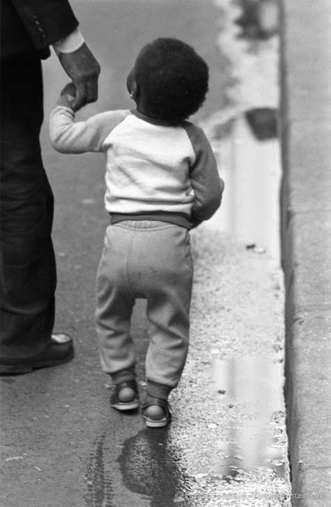 Toddler with father, Paris, 1988