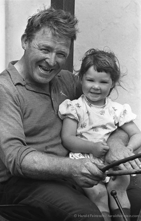 On the tractor with grandpa, Ireland, 1988