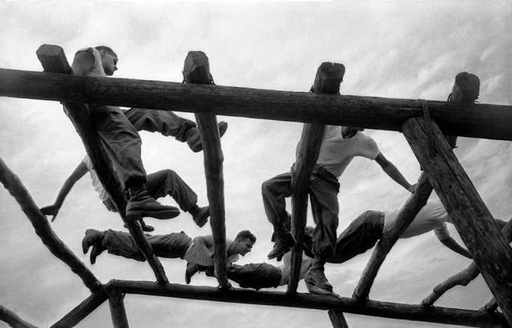 Confidence Course, Camp Kilmer, 1952, taken with my Leica IIIc.