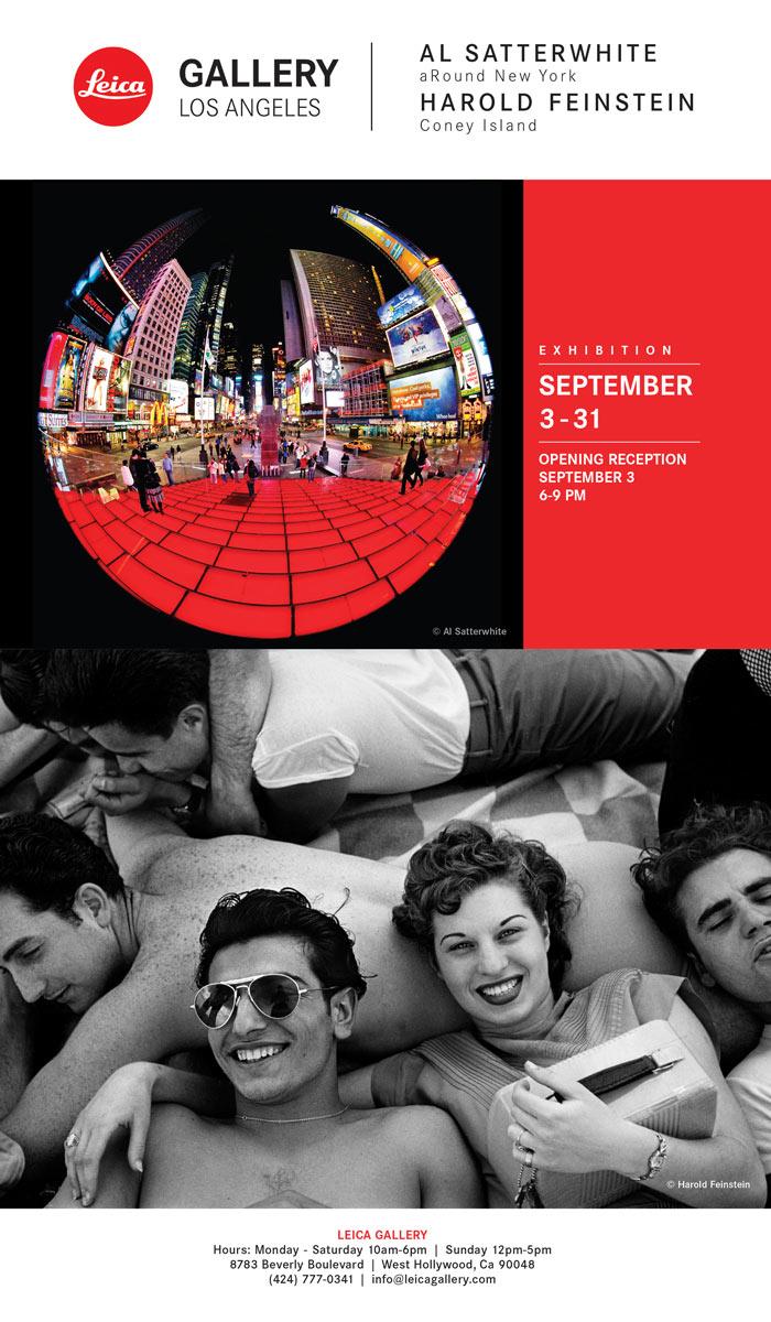 Leica LA Gallery Feinstein/Satterwhite show opens September 3rd