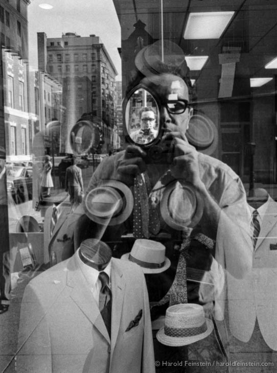 Man in the mirror, Philadelphia, 1964