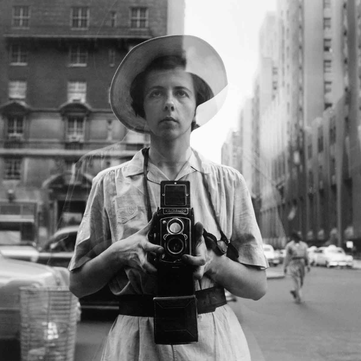 Vivian Maier self-portrait, 1955 Maloof Collection