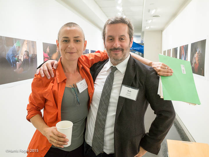 Julie Grahame with Bob Ahern, Director of Archive Photography at Getty, © Harris Fogel