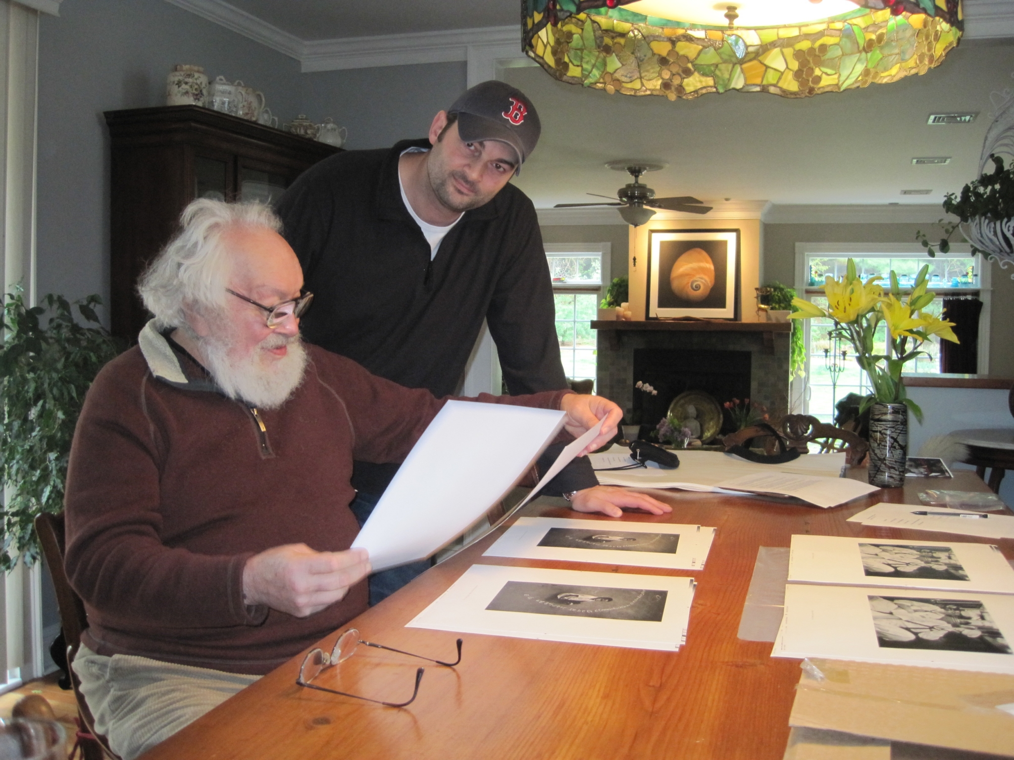Harold commenting on photos from his Retrospective book with Jason Landry in May, 2012.