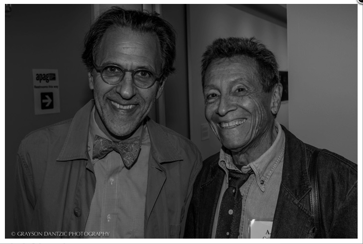 Phil Block, Director of the ICP School with writer and photo-historian, A.D. Coleman