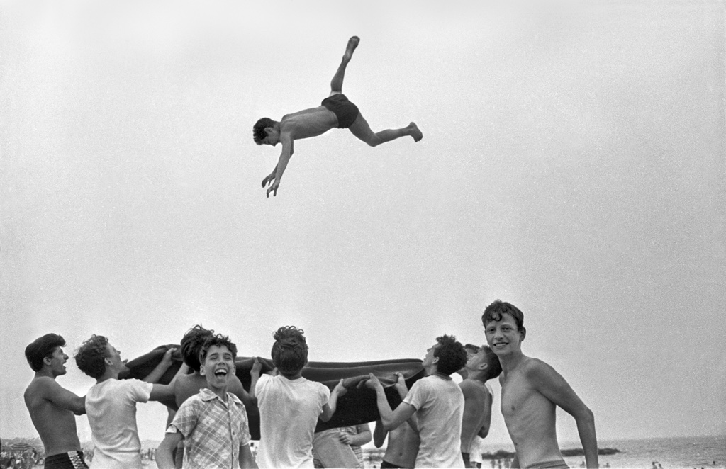 Blanket Toss Beach Play, 1955