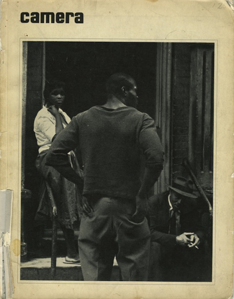 Cover of Camera Magazine, 1966 (no. 7) Title of photo: John Henry, Lower East Side, New York, 1960, Photo by Louis Draper, 1960.