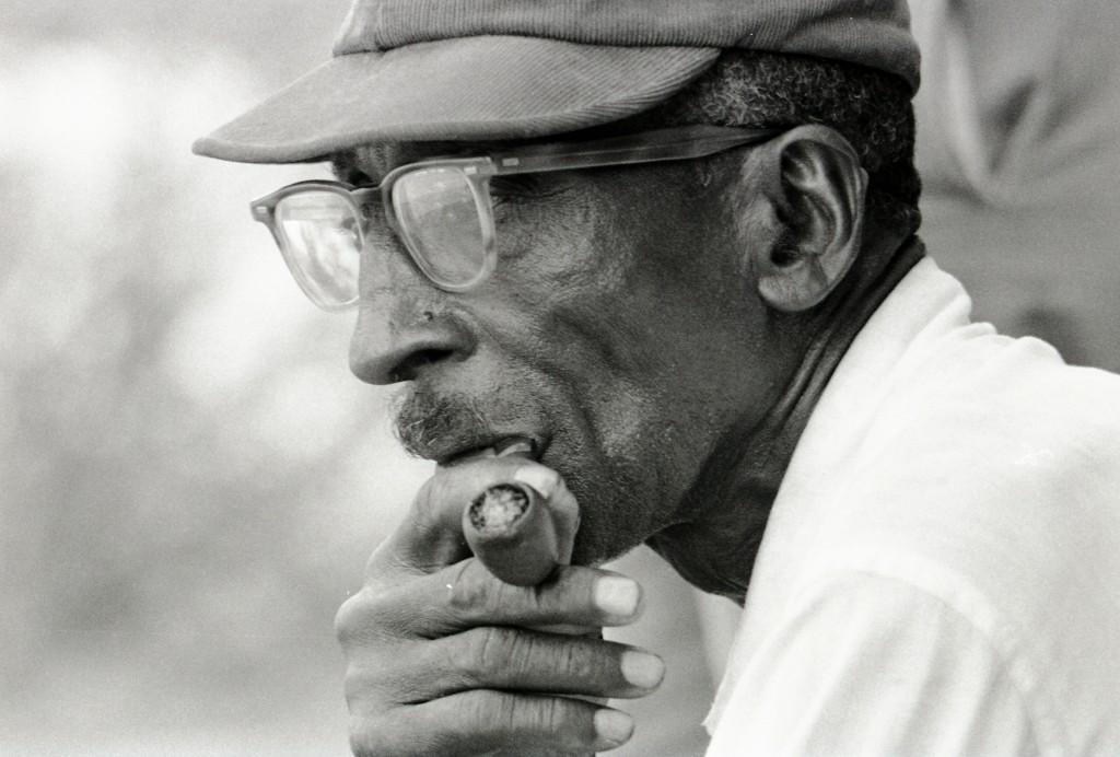 Man smoking pipe, Hattiesburg, MS, 1964, © Herbert Randall