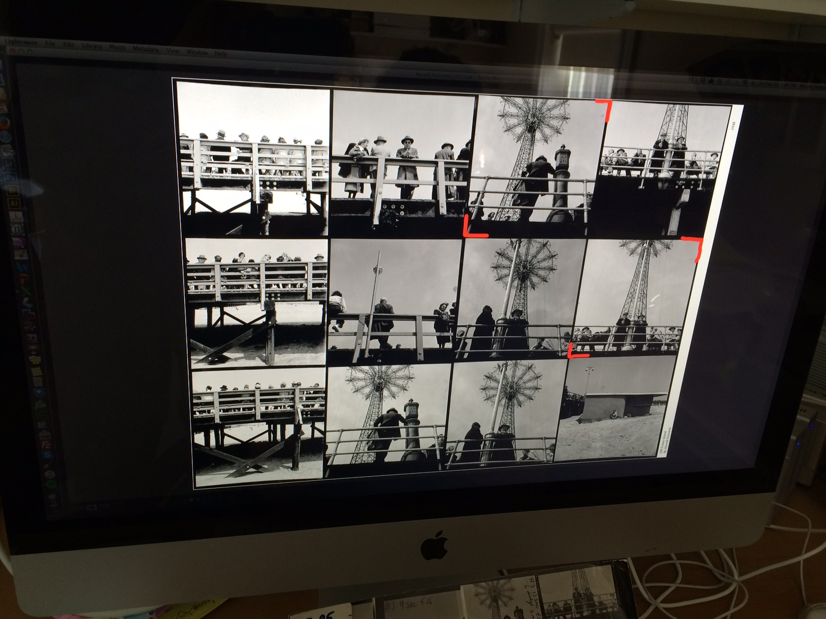 "Images from the 8x10 contact sheet digitized and viewed on the 27"" screen."