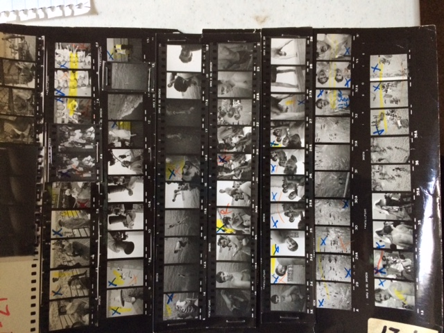 72 ½ frame images on an 8x10 contact sheet