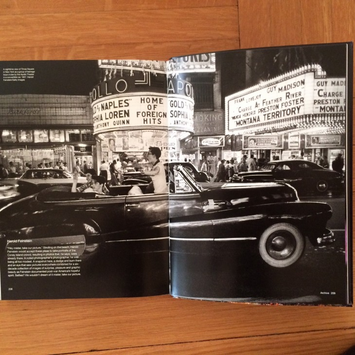 Harold's 1957 Cruising on Saturday night, Times Square in Getty Images book The Year in Focus, 2015.