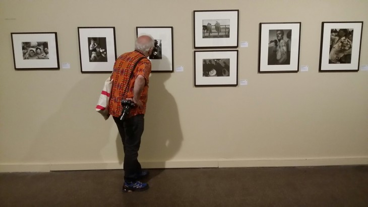 A wall of Harold Feinstein's photos from the Arles Photo Festival show on Sid Grossman and his Legacy, August, 2016 © Bob Shamis